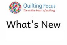 What's New / What's new and exciting in the quilting world. Quilting Focus top picks for new quilting products, quilting fabric and anything unique or inspirational.
