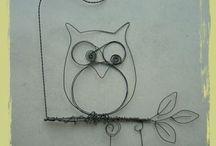Wire - Animals : Owls