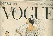 vogue / Illustrated vogue covers