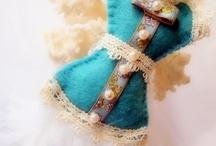Collection Corsets Feutrine - Felt / Mes bijoux de sacs et accessoires autour du theme des corsets, réalisations en feutrine cousues main