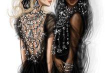 Mode-Illustrationen,Fashion illustration