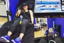 Gym Members Using HydroMassage / Pictures of HydroMassage from various fitness clubs