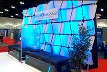 HydroMassage at Trade Shows / HydroMassage booth displays at various trade shows