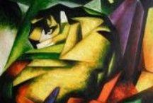 Franz Marc / Historische Gemälde von Franz Mark - Gemälde Reproduktionen in Galerie-Qualität von paintify.