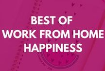 Best of Work From Home Happiness / If you're looking for work from home jobs, freelance advice, online business ideas, blogging tips, and creative entrepreneur inspiration,  you're in the right place! This is a collection of not-to-be-missed posts from Work from Home Happiness -- a compilation of legitimate remote, freelance, solopreneur, and infopreneur advice, ideas and insight to help you earn a living doing the things you love.