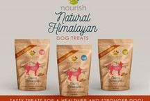 Love for Nourish Himalayan Dog Chews / Dogs relishing premium quality protein packed Nourish Himalayan Dog Chews. Our karma = your Karma, we provide meals, medication and shelter to homeless dogs