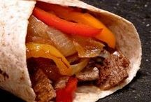 Food: Fajitas, wraps, rolls