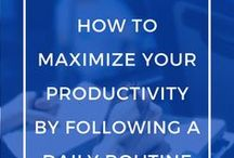 Productivity Tips + Time Management Hacks / Whether you work from home, freelance or have a career, you need these productivity tips and time management hacks for work and life!