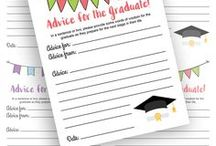 Graduation / Graduation gifts, ideas, crafts, DIY, tables settings, printables, cakes, quotes, food, announcements, dress and more for college, high school, elementary school, kindergarten, and preschool.