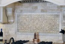 Backsplash / Our favorite backslash ideas including mosaic, ceramic, marble, glass, metals and much more
