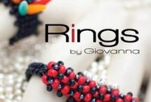 """Rings By Giovanna / We are excited to announce our latest publication: """"Rings by Giovanna"""" This manual is the first of a series that will showcase projects featuring seed beads from Dazzle-it Collection. For our debut issue, we commissioned bead weaving artist Giovanna Fiume to create a collection inspired by American pop artist Roy Lichtenstein."""