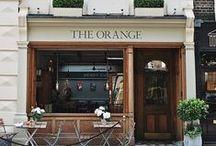 Beautiful stores, cafés and hotels