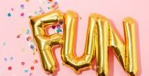 PARTY / Party ideas for birthday, baby shower, gender reveal parties, kid's parties, weddings, bridal showers and more...