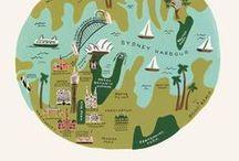 Illustraded maps