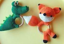 Crocheting, knitting, sewing