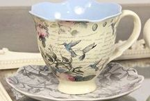 Teacups and elegance / Beautiful tea cups. / by Ellie