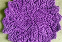 Afwaslappen breien / Dishcloth knitting / Fijne manier om te leren breien, allerlei kleine (was) lapjes in verschillende steken / Nice way to learn to knit
