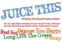 JUICE THIS® / Perfectly Portioned Produce Packs™ juicing kits. Wash, prep, juice, enjoy! We take the hassle out of juicing!  Four fabulous varieties that taste great every time.