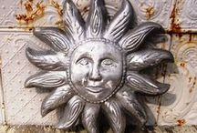Aluminum Wall Decor / These aluminum pieces would make nice wall hanging inside or outside.