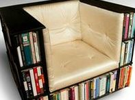 Book Furniture / Where to sit when you read and where to store your book collection, and everything else for a Book Lovers home decor...