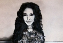 Portrait of Melanie / A portrait of fellow artist and director of Artists Info, painted with airbrush and brushes, using thinned acrylics