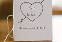 Wedding Stationary / Save the date, invitations, guest books, place settings, menus, thank you cards