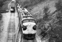 Diesel / Mostly freight and diesel locomotives. Pins of industrial railways.