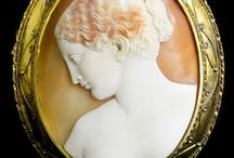art ❈ cameo portraits / cameo close-up portraits: precious materials