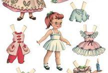 papír öltöztető babák