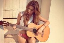 Girls & Guitars / Girls who play guitar and girls modeling with guitars :)