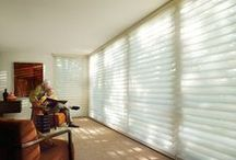 Silhouette®Window Shadings / Silhouette® shadings, with the Signature S-Vane™ , magically float between two sheers and diffuse harsh sunlight. Simply tilt the vanes to achieve your desired level of light and privacy.