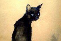 Felini goes arty / cool & inspiring cat art