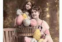 Old Easter Photos of Postcards