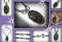 Wire wraps by Marita Svare / some of my wire wrapped jewelry