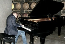 NVJG 2012   Miner Family Winery Event / Steve Gage at Miner gave everyone a tour and Brian performed solo piano in their wine cave on the Mason & Hamlin grand piano!!  Cecil Ramirez from M&H joined in on a couple songs too.