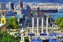 BARCELONA / Barcelona es conocida en todo el mundo como una ciudad cultural. Posee un rico patrimonio arquitectónico y monumental con obras declaradas patrimonio de la humanidad por la UNESCO.  / by Cristina Menendez