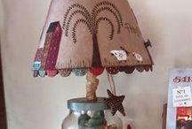 LÁMPARAS PATCHWORK. LAMPS / Pantallas de lámparas realizadas en patchwork