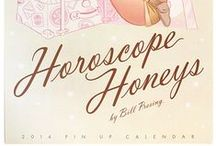 Horoscope Honeys / Illustrated calendar from 2014 by the amazing Bill Presing