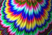 Colorful / Fun, bright, multi-color art, jewelry and fashion.