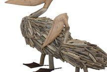 Beach Coastal Decor / Beach Coastal Decor collection of Driftwood, Cushions, Throw rugs & Decor