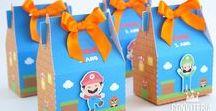 Festa Super Mario / Convites, papelaria, decoração e inspirações para festa com tema Super Mario e Luigi.