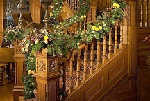 Deck The Halls / Christmas stairway décor.