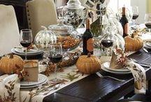 Autumn, Thanksgiving Tablescape