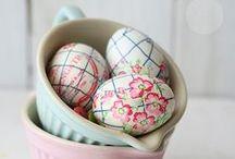 Pascua ★ Easter / Cuenta la historia que una mujer que pintaba huevos para sus hijos en la Pascua, los escondía en nidos de pájaros. En una de tantas veces, los niños encontraron dichos huevos, y un conejo saltó del nido, los pequeños con la inocencia de la edad asumieron que este simpático animal había proporcionado los huevos de Pascua