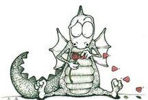 Sant Jordi / Hace muchos años un dragón feroz aterrorizaba los alrededores de Montblanc. Para apaciguar a la bestia se decidió darle cada día un vecino. Se realizó un sorteo entre la población y la suerte quiso que la escogida fuera la hija del rey. Cuando se disponía a ser engullida por el dragón apareció un caballero y la salvó hiriendo de muerte al dragón. Era San Jorge. Donde el dragón derramó su sangre nació un rosal de rosas rojas. Desde entonces se mantiene la tradición de regalar una rosa a la amada.