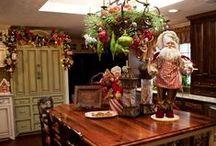 Kitchens at Christmas / Christmas kitchens