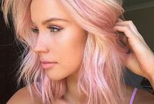 Colorful Hair / colored, pastel, rainbow, bold, ombre, beautiful hair