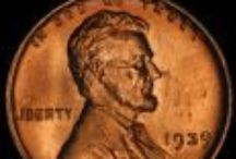 Lincoln Cents (1930-1939) / The Lincoln Cent was designed by Victor D. Brenner in order to commemorate the 100th anniversary of Abraham Lincoln's birth. The designer's initials (V.D.B.) appeared near the bottom of the coin on the reverse of a limited number of coins from 1909. That's why 1909 is considered a key date. / by Executive Coin