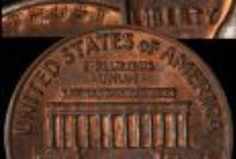 Lincoln Cents (1959-2008) / The Lincoln Cent was designed by Victor D. Brenner in order to commemorate the 100th anniversary of Abraham Lincoln's birth. The designer's initials (V.D.B.) appeared near the bottom of the coin on the reverse of a limited number of coins from 1909. That's why 1909 is considered a key date. / by Executive Coin