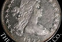 Bust Silver Dollars (1794 - 1804) / Authorized by the Congress on April 2, 1792, the first dollar was minted in 1794 - the Flowing Hair silver dollar. In 1795 it was replaced with the Draped Bust dollar.